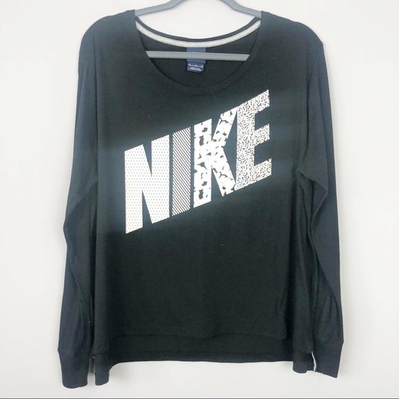 Nike Tops - Nike | Black and White Long Sleeve Top
